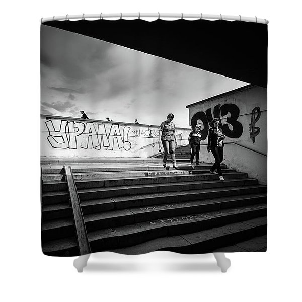 The Underpass Shower Curtain