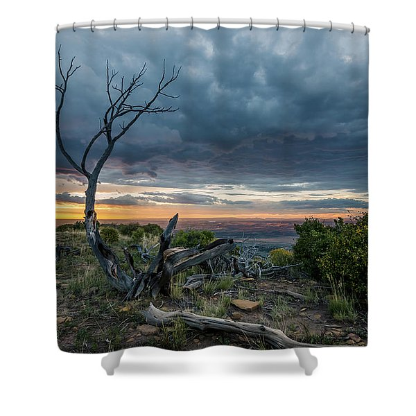 The Unfolding Drama Shower Curtain