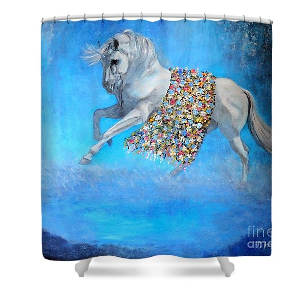 The Unicorn Shower Curtain