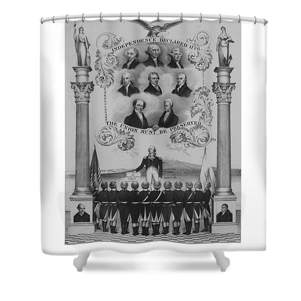 The Union Must Be Preserved Shower Curtain