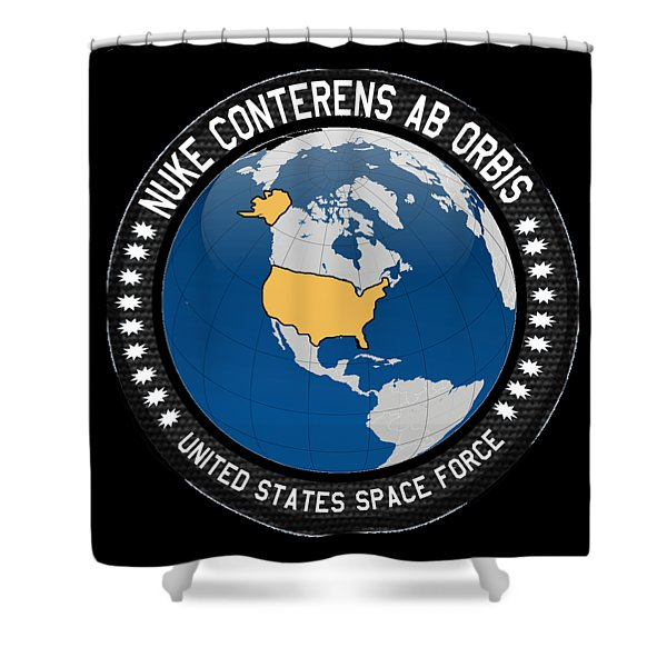 The United States Space Force Shower Curtain