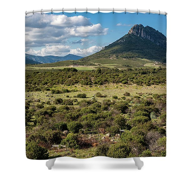 The Urzulei Mountains Shower Curtain