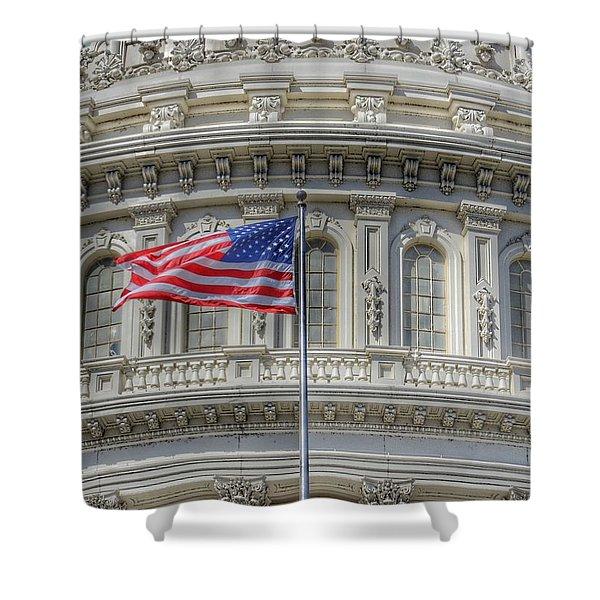 The Us Capitol Building - Washington D.c. Shower Curtain