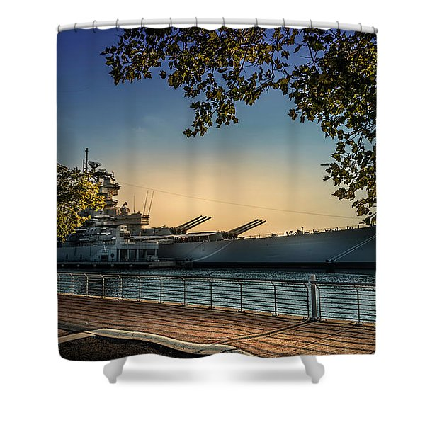 The Uss New Jersey Shower Curtain