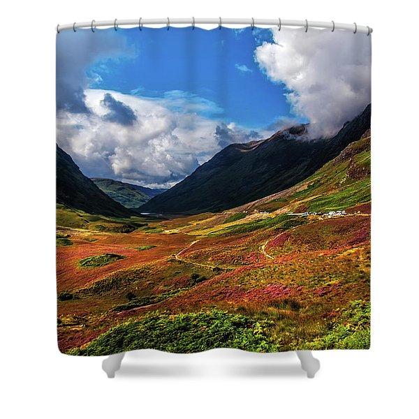 The Valley Of Three Sisters. Glencoe. Scotland Shower Curtain
