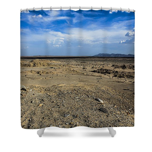 Shower Curtain featuring the photograph The Vastness by Break The Silhouette