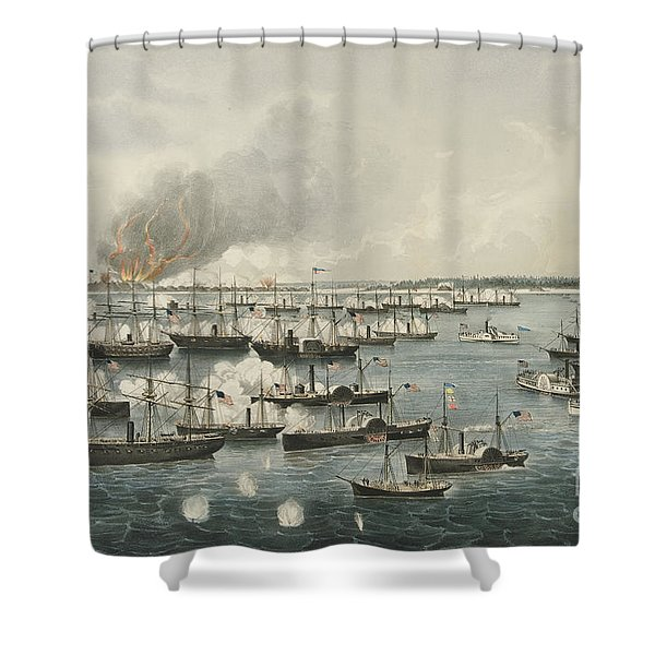 The Victorious Attack On Fort Fisher, 1865 Shower Curtain
