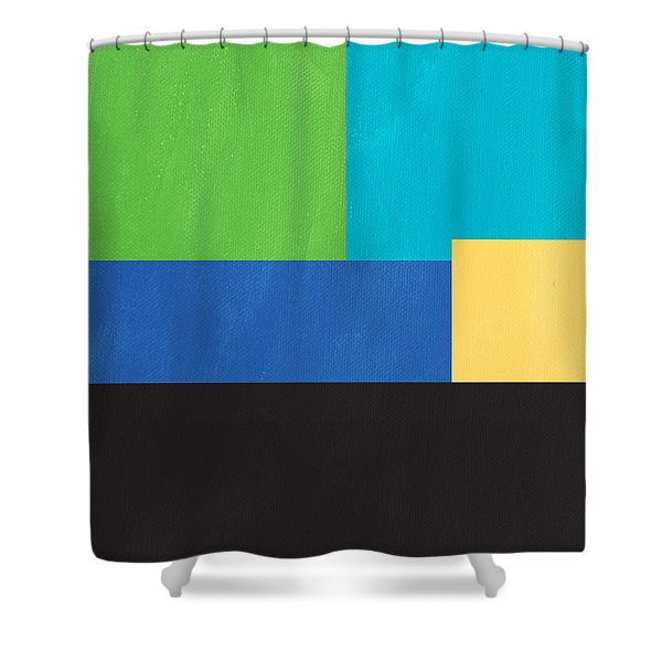 The View From Here- Modern Abstract Shower Curtain