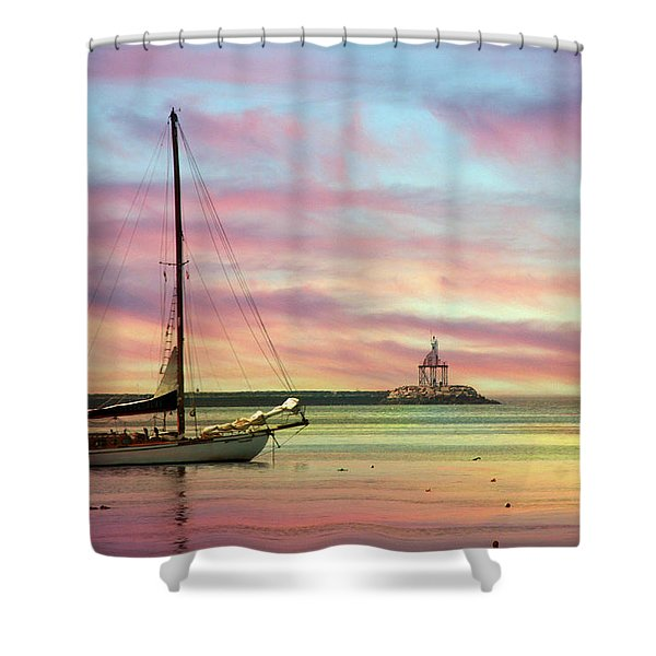 The View From Rocky Neck Shower Curtain