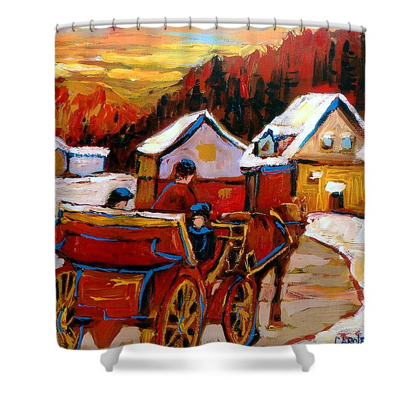 The Village Of Saint Jerome Shower Curtain