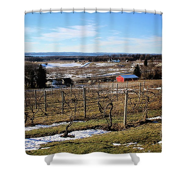 The Vineyard On Old Mission Shower Curtain