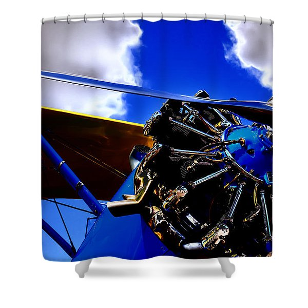 The Vintage 1940 Stearman Pt-18 Shower Curtain