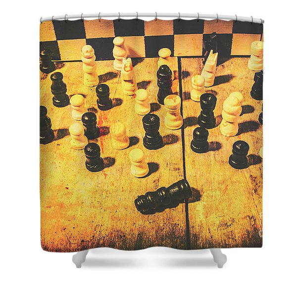 The Vintage End Game Shower Curtain