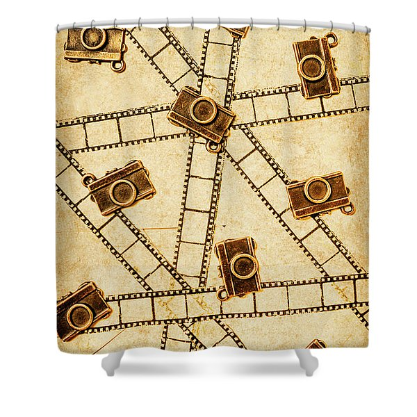 The Vintage Photo Gallery Shower Curtain