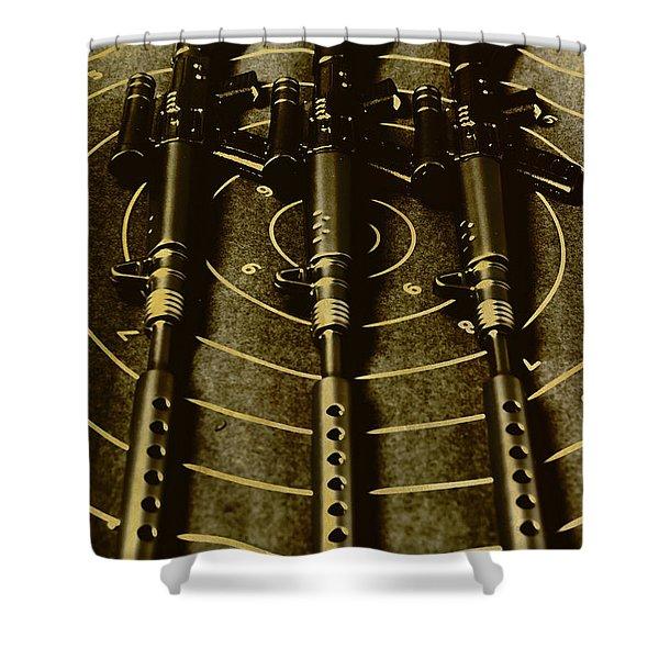 The Vintage Sniper Rifle Range Shower Curtain