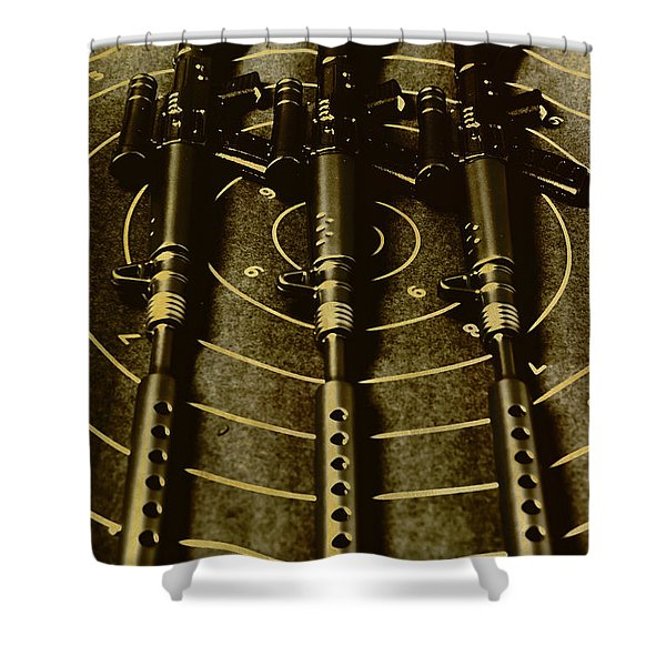 The Vintage Sniper Rifle Range Shower Curtain
