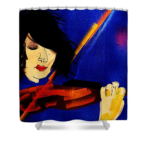 The Violinist Shower Curtain