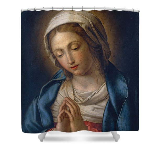 The Virgin At Prayer Shower Curtain