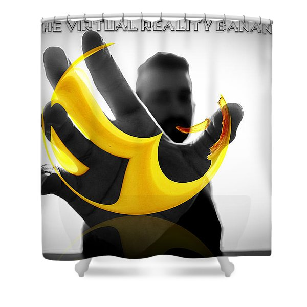 The Virtual Reality Banana Shower Curtain