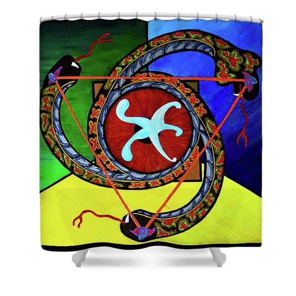 The Vitruvian Serpent Shower Curtain