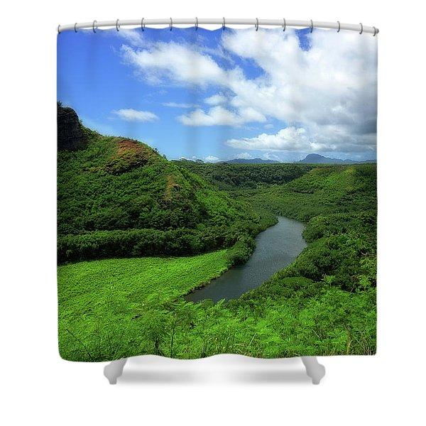 The Wailua River Shower Curtain