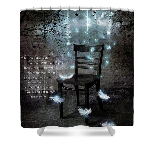 The Waiting Room II Shower Curtain