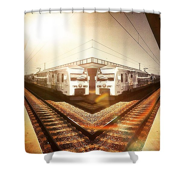 The Waiting Shower Curtain