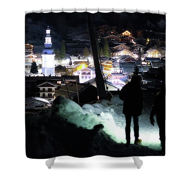 The Walk Into Town- Shower Curtain