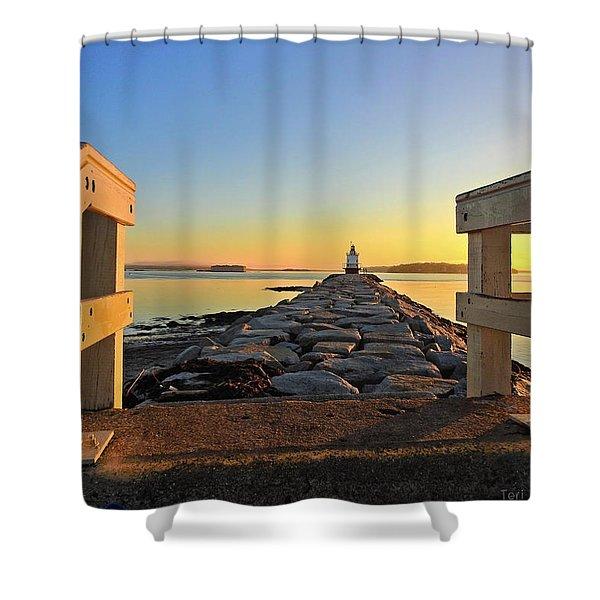 The Walkway Shower Curtain
