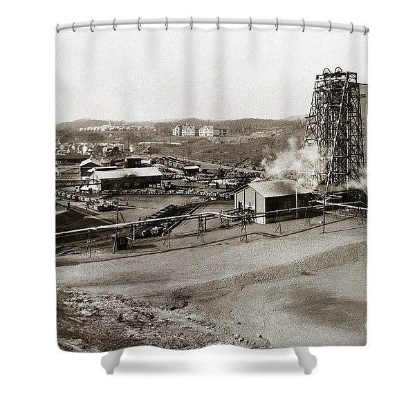 The Wanamie Colliery Lehigh And Wilkes Barre Coal Co Wanamie Pa Early 1900s Shower Curtain