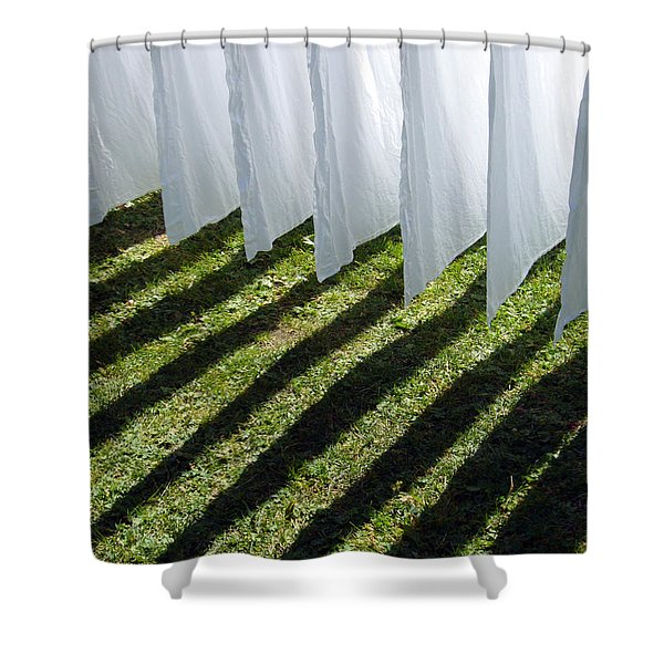 The Washing Is On The Line - Shadow Play Shower Curtain