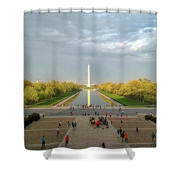 The Washington Monument And The Reflecting Pool Shower Curtain