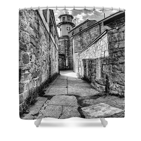 The Watch Tower Eastern State Penitentiary Shower Curtain
