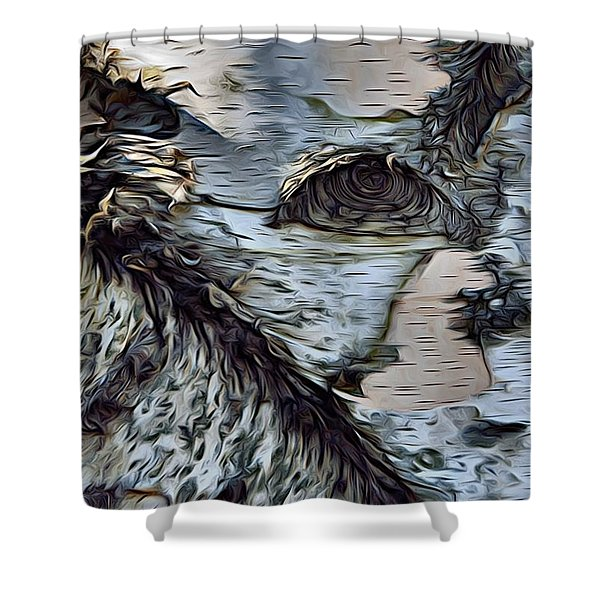 The Watcher In The Wood Shower Curtain