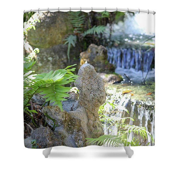 The Water And Rock Spot Shower Curtain
