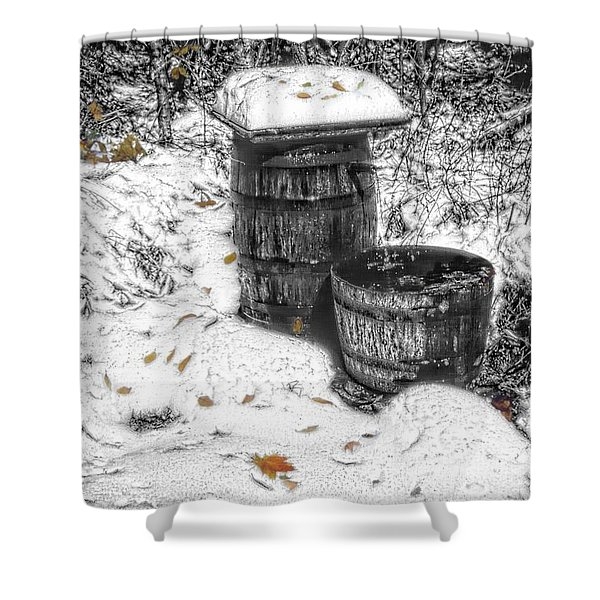 The Water Barrel Shower Curtain