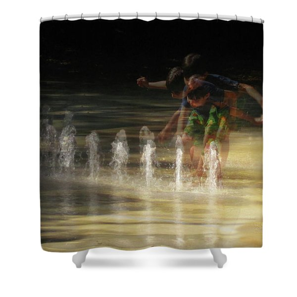The Water Maestro  Shower Curtain