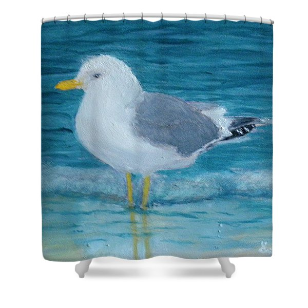 The Water's Cold Shower Curtain
