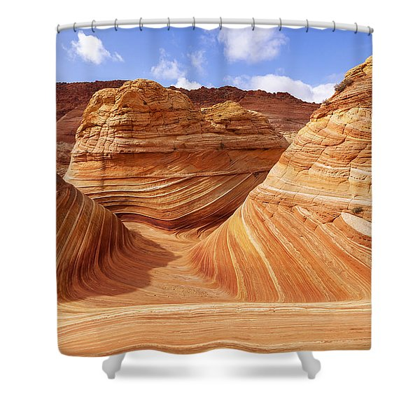 The Wave I Shower Curtain