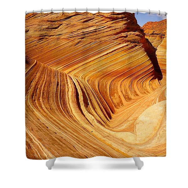 The Side Wave Shower Curtain