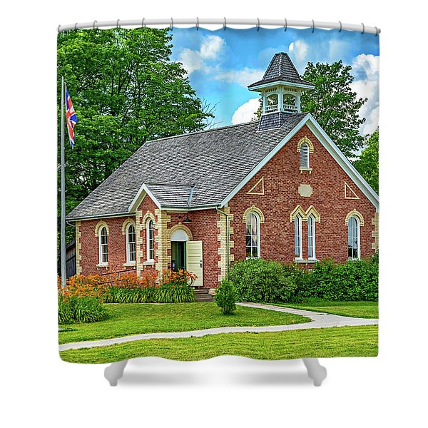 The Way We Were - One Room School House Shower Curtain
