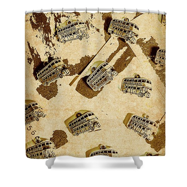 The Weathered Downtown Shower Curtain