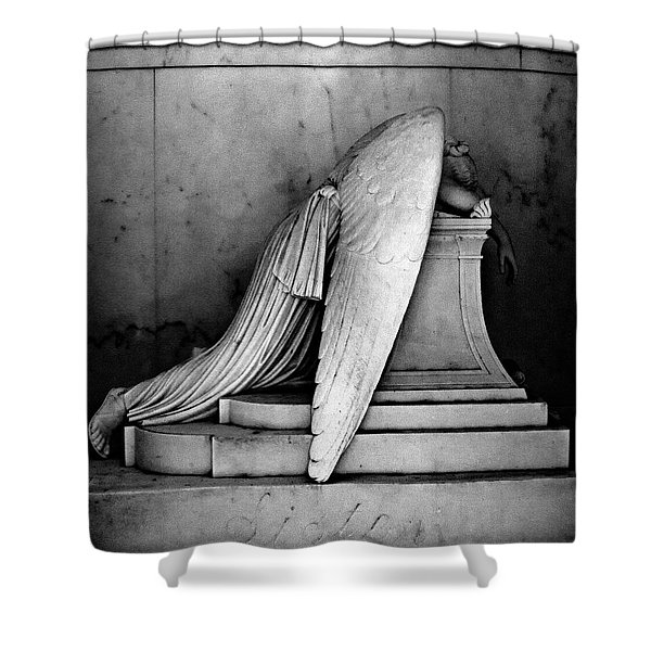 The Weeping Angel Shower Curtain