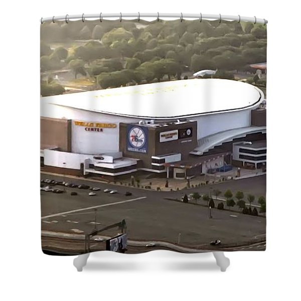 The Wells Fargo Center Shower Curtain by Bill Cannon