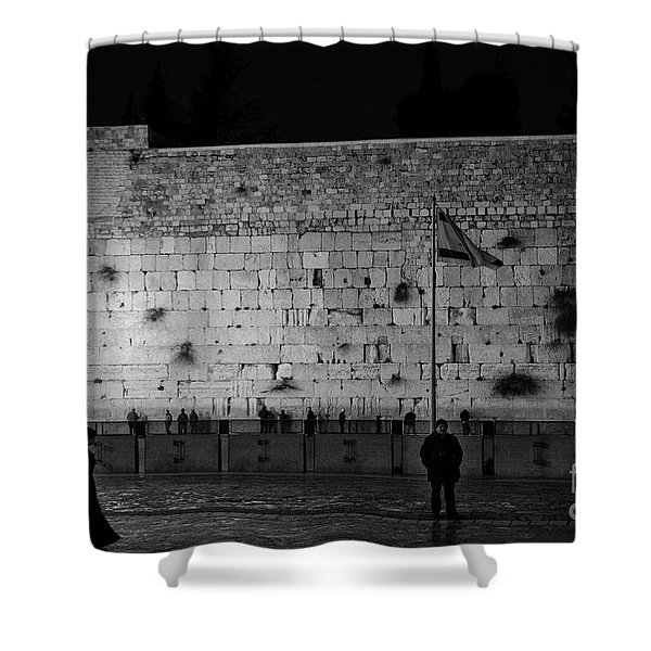 The Western Wall, Jerusalem Shower Curtain
