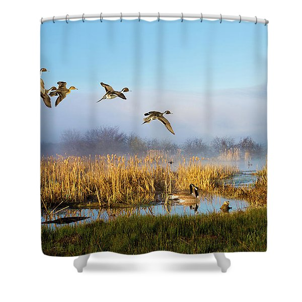 The Wetlands Crop Shower Curtain