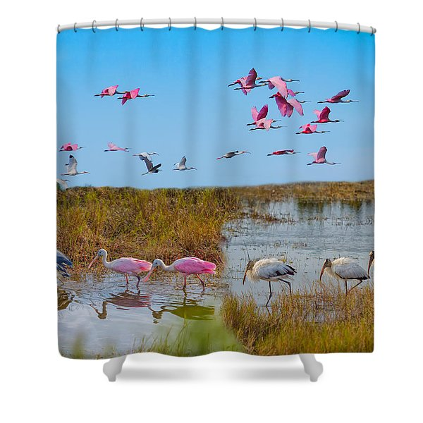 The Wetlands Shower Curtain
