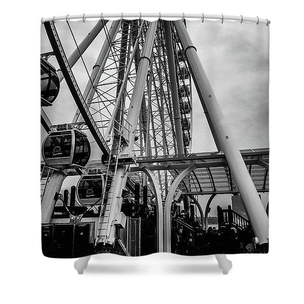 The Wheel Seattle  Shower Curtain