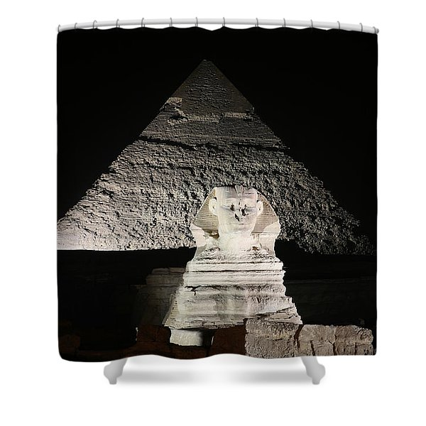 The White Sphynx Shower Curtain