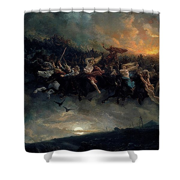 The Wild Hunt Of Odin Shower Curtain